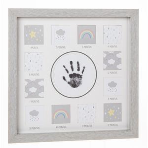Baby First Year Handprint & Photo Collage Frame