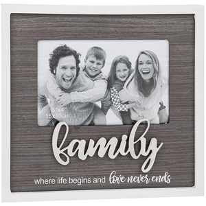 "Stylish Script Photo Frame 6"" x 4"" - Family"