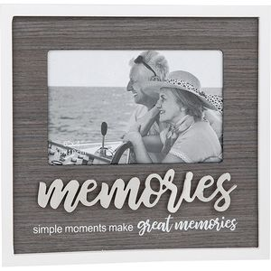 "Stylish Script Photo Frame 6"" x 4"" - Memories"