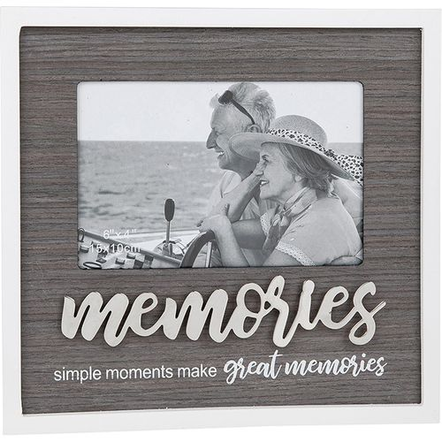 "Stylish Script Photo Frame 6"" x 4"" - Memories"