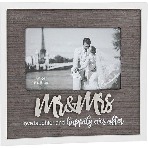 "Stylish Script Photo Frame 6"" x 4"" - Mr & Mrs"