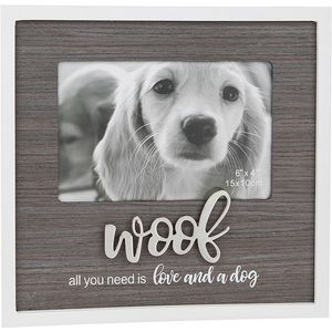 "Stylish Script Photo Frame 6"" x 4"" - Woof"