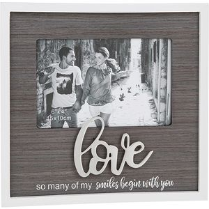 "Stylish Script Photo Frame 6"" x 4"" - Love"