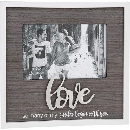 "Stylish Script Photo Frame 6"" x 4"" - Love"
