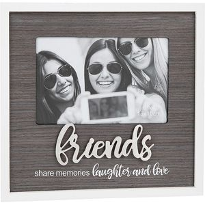 "Stylish Script Photo Frame 6"" x 4"" - Friends"