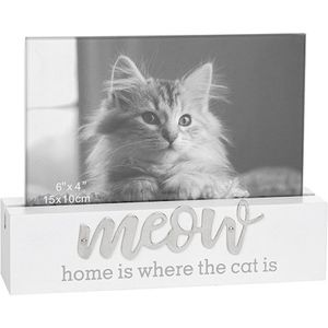 "Loving Script Photo Frame 6"" x 4"" - Meow (Cat)"