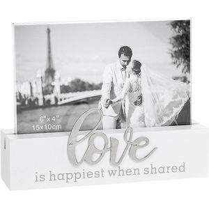 "Loving Script Photo Frame 6"" x 4"" - Love"