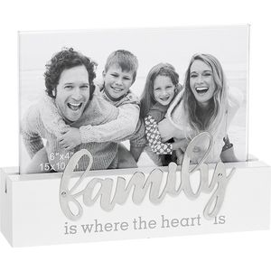 "Loving Script Photo Frame 6"" x 4"" - Family"