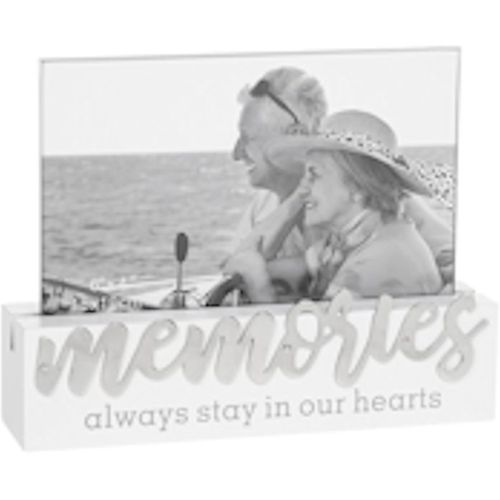 """Loving Script Photo Frame 6"""" x 4"""" - Memories always stay in our hearts"""