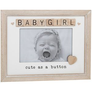 "Scrabble Sentiments Photo Frame 6"" x 4"" - Baby Girl"