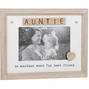 "Scrabble Sentiments Photo Frame 6"" x 4"" - Auntie"
