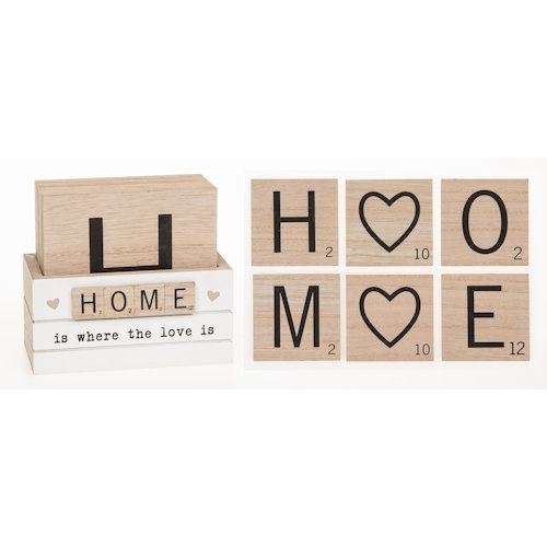 Scrabble Sentiments Coasters Set of 6  - Home