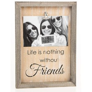"Sentiment Clip Photo Frame 6"" x 4"" - Friends"