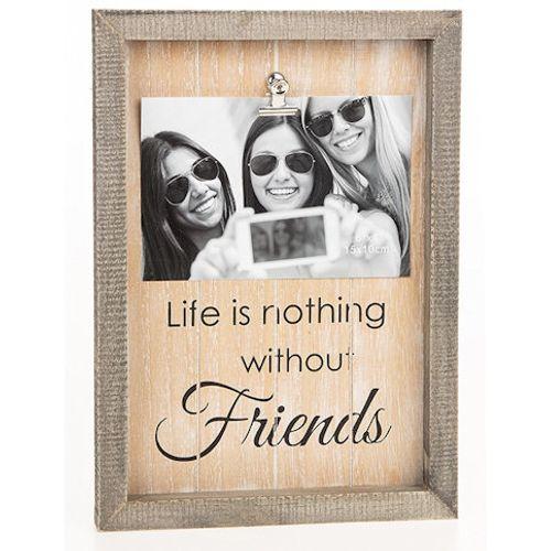 """Sentiment Clip Photo Frame 6"""" x 4"""" -  Friends"""