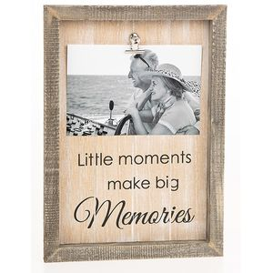 "Sentiment Clip Photo Frame 6x4"" - Memories"