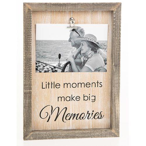 "Sentiment Clip Photo Frame 6"" x 4"" -  Memories"