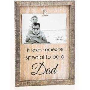 "Sentiment Clip Photo Frame 6x4"" - Dad"