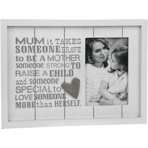 "Photo Phrases Photo Frame 4x6"" - Mum"