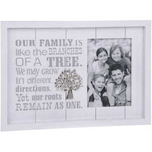 "Photo Phrases Photo Frame Family 4"" x 6"" - Family"