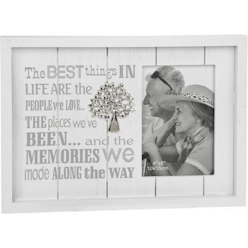 "Photo Phrases Collection Photo Frame 4"" x 6"" - Memories"