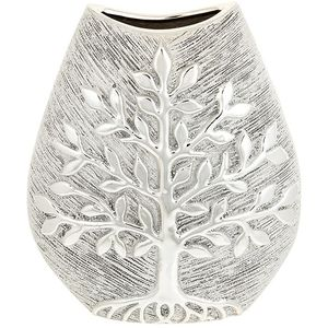 Tree of Life Small Wide Vase - Champagne