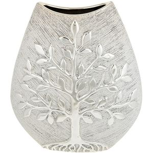 Tree of Life Large Wide Vase - Champagne