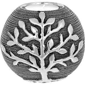 Tree of Life Ball Tea Light Holder - Gunmetal