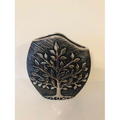 Shudehill Giftware Tree of Life Modern Vase - Gunmetal