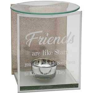 Glass & Rose Gold Glitter Wax Melt/Oil Burner - Friends