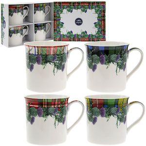 Leonardo Floral China Mug Set - Floral Tartan