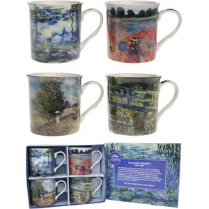 Leonardo Artists 4 Fine China Mugs Set - Monet