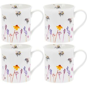 Leonardo 4 China Mugs Set - Busy Bees