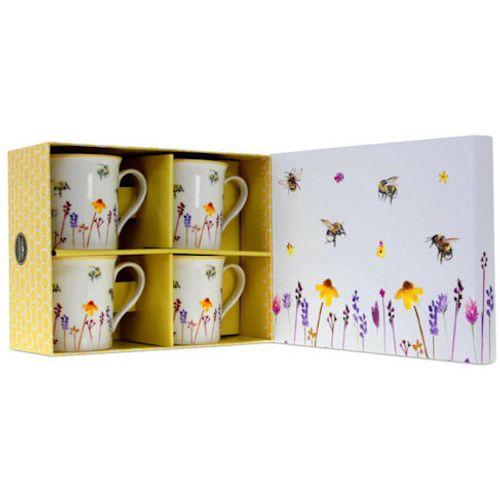 Leonardo 4 China Mugs Set - Busy Bees