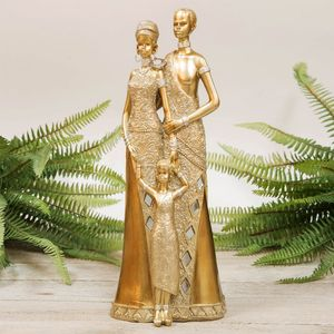 Hestai Collection Golden Masai Family Figurine