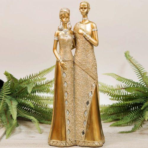 Hestai Collection Golden Masai Couple Figurine 40cm