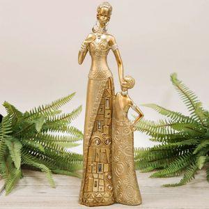 Hestia Collection Golden Masai Mother & Child Figurine