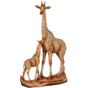 Naturecraft Wood Effect Resin Figurine - Giraffe & Calf