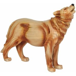 Naturecraft Wood Effect Resin Figurine - Wolf