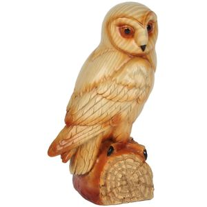Naturecraft Wood Effect Resin Figurine - Owl