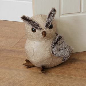 Home Living Door Stop - Beige Owl