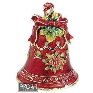 Craycombe Trinkets Red Christmas Bell Trinket Box