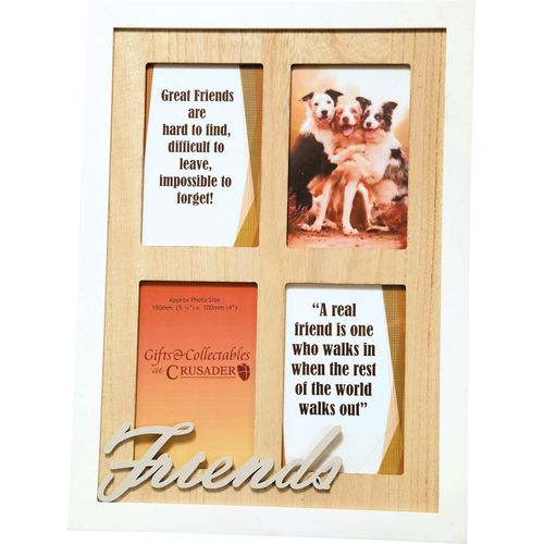 Crusader Gifts Exclusive Collage Photo Frame - Friends