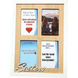 Crusader Gifts Exclusive Collage Photo Frame - Sisters