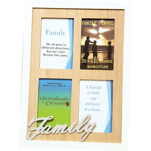 Crusader Gifts Exclusive Collage Photo Frame - Family