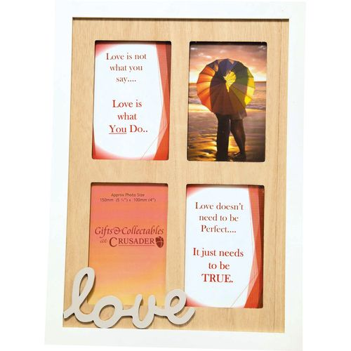 Crusader Gifts Exclusive Collage Photo Frame - Love