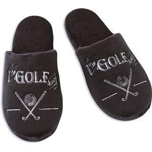Ultimate Man Gift Slippers - The Golf Addict (Small)