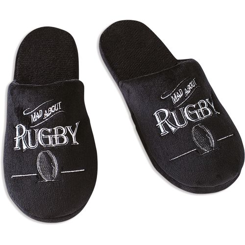 Ultimate Man Gift Slippers - Mad About Rugby (Medium)