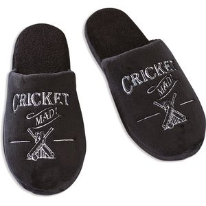 Ultimate Man Gift Slippers - Cricket Mad (Large)