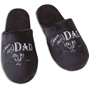 Ultimate Man Gift Slippers - Worlds Best Dad (Large)