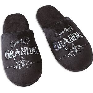 Ultimate Man Gift Slippers - Worlds Best Grandad (Large